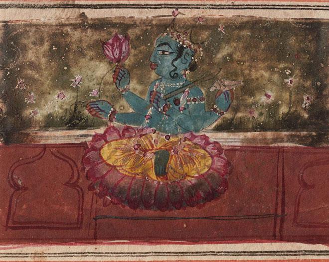 Vishnu assis sur des lotus © Museum of Fine Arts, Boston