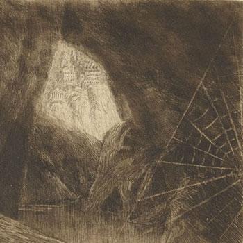 L'araignée, estampe de Eugène Viala © Gallica - BnF