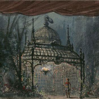 La flûte enchantée : esquisse de décor de l'acte IV, tableau 1 / Philippe Chaperon © Gallica - BnF