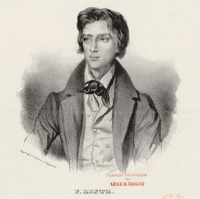 Portrait de Franz Liszt © Gallica - BnF