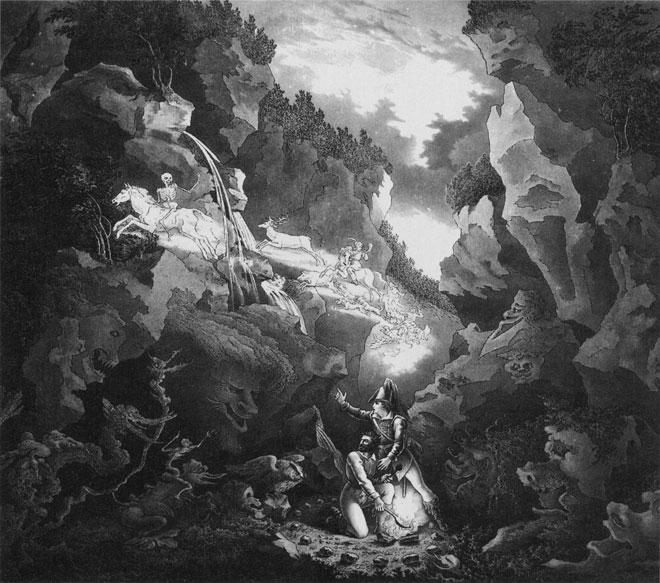 Représentation de la scène de la gorge aux loups © Staatliche Kunstsammlungen, Weimar