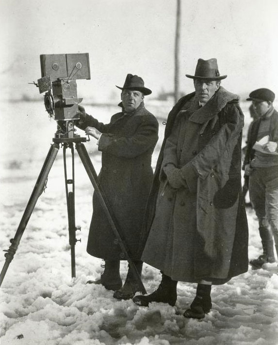 D. W. Griffith et son équipe de tournage © NY Public Library, digital collections