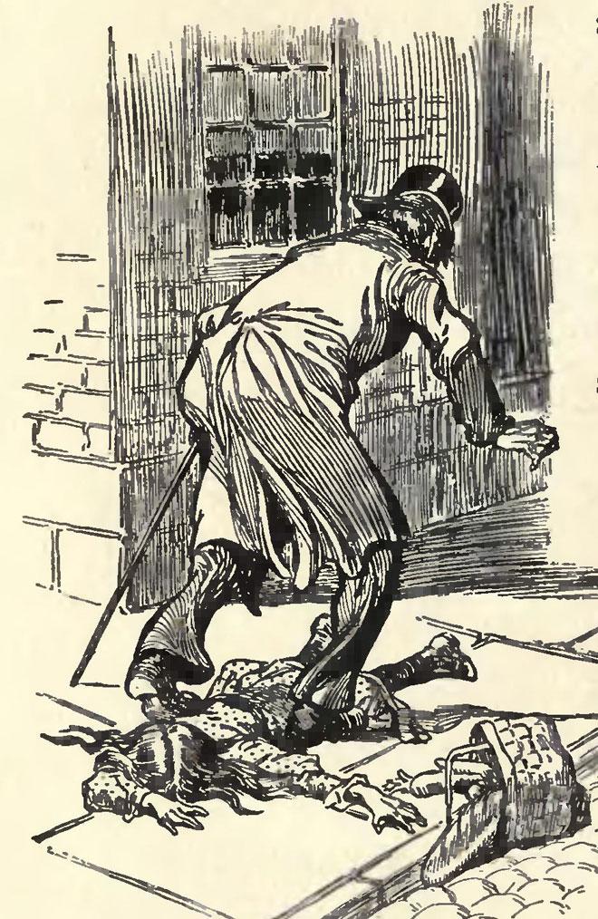 Mr Hyde agressant un enfant, illustration de Charles Raymond Macauley pour l'édition de 1904 © University of Toronto, Robarts Library