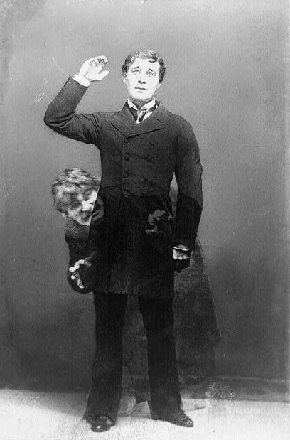 Richard Mansfield dans Dr Jekyll et M. Hyde © Library of Congress