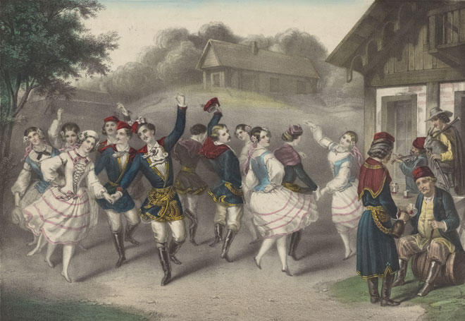 Couples de danseurs polonais © NY Public Library, digital collections