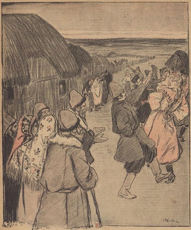 Danse slave, Contes et nouvelles illustrés par Théophile-Alexandre Steinlen © Gallica-BnF