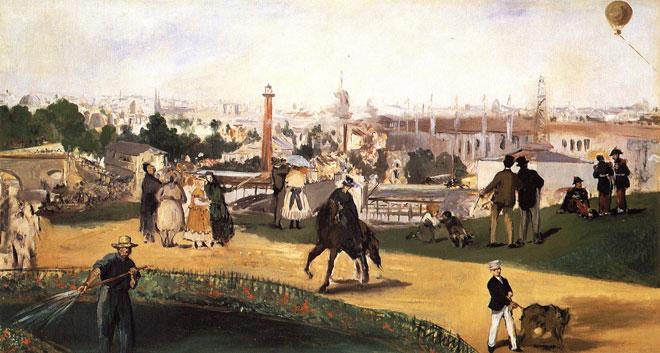 Exposition universelle de 1867, par Édouard Manet © Nasjonalgalleriet, Oslo