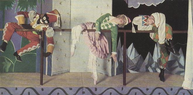 Les marionnettes animées du Charlatan : le Maure, la Ballerine et Petrouchka © Gallica-BnF