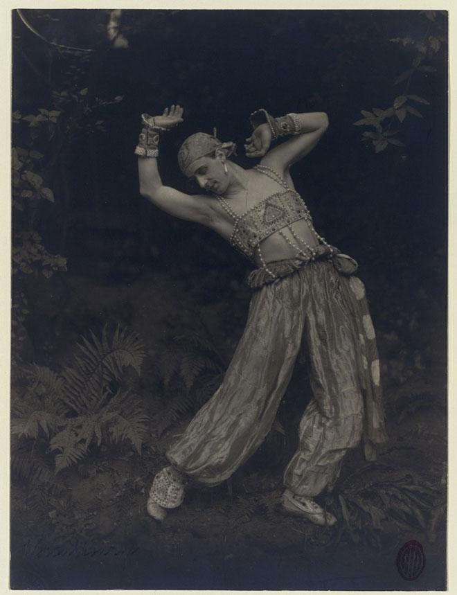 Mikhail Fokine dans Shéhérazade de Rimski-Korsakov © Gallica-BnF