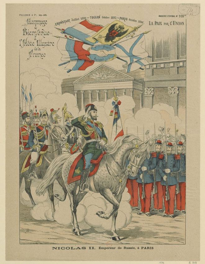 Nicolas II empereur de Russie à Paris © Gallica-BnF
