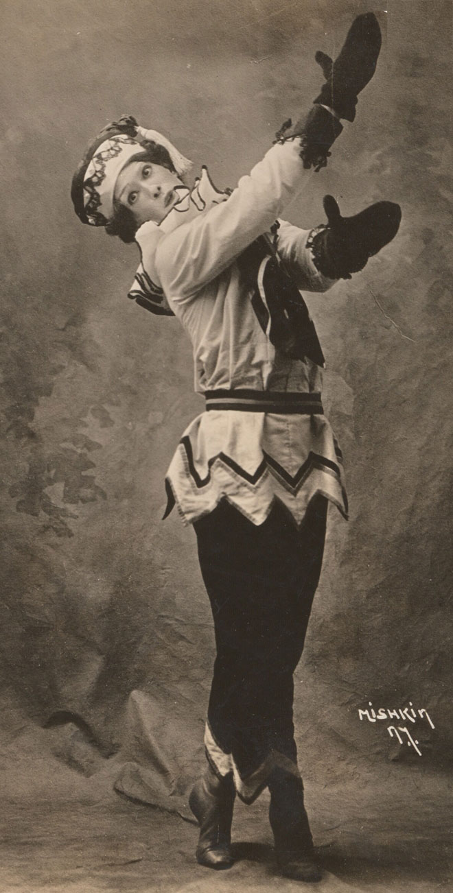 Nijinski dans le rôle de Petrouchka © Library of Congress