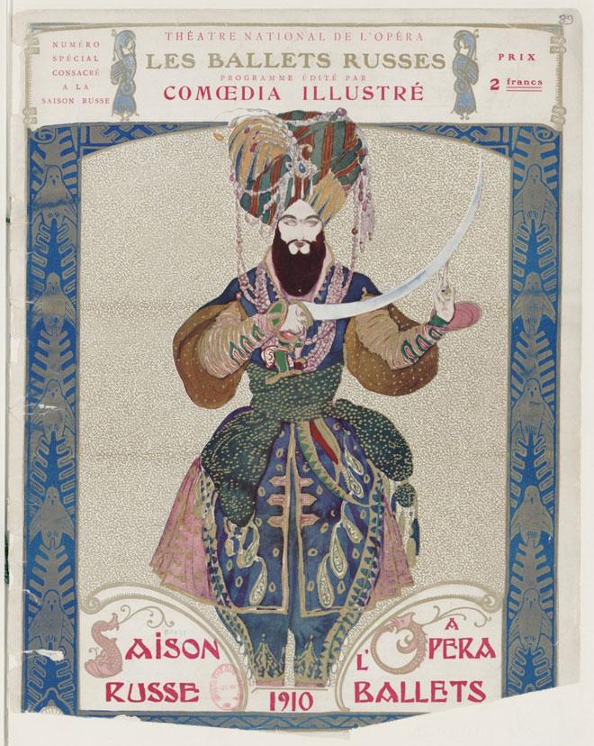 Programme officiel de la saison russe à l'opéra, 1910. Gallica-BnF