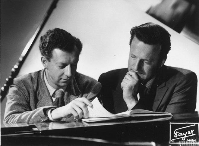Benjamin Britten et Peter Pears © Österreichische Nationalbibliothek