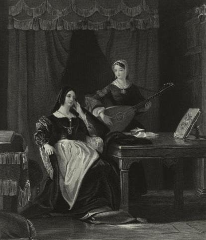 Catherine d'Aragon (première épouse de Henry VIII) © NY Public Library, digital collections