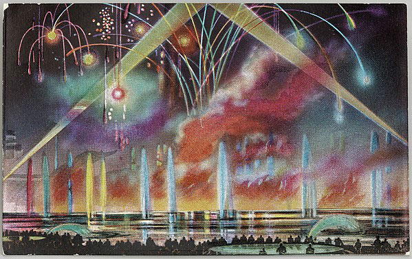 Night Display Central Mall Fireworks, from the New-York World's Fair series © Metropolitan Museum