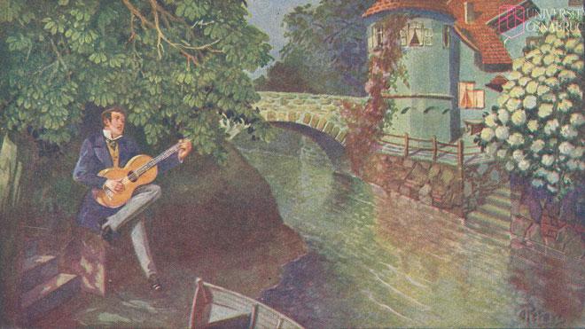 Sérénade «Mes chansons invitent doucement» © Historische Bildpostkarten - Universität Osnabrück