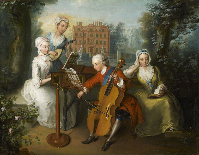 The Music Party, par Philip Mercier © National Portrait Gallery, London