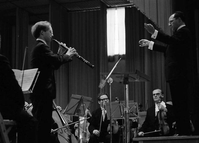 Heinz Holliger au hautbois, dirigé par Pierre Boulez © Landesarchiv-Baden Württemberg