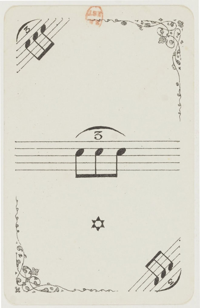 Jeu de cartes musical © Gallica-BnF