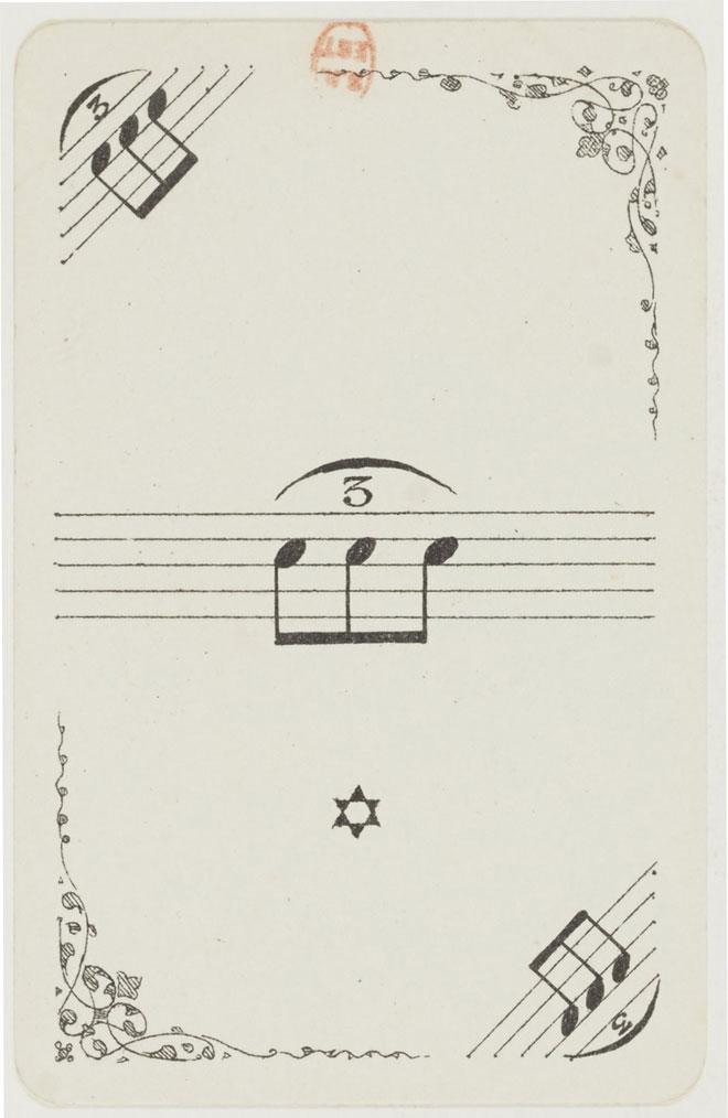 Jeu de cartes musical © Gallica-BnF