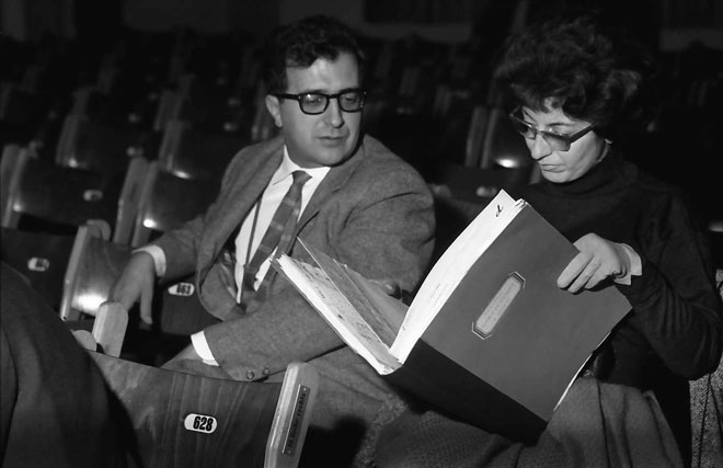 Luciano Berio et Cathy Berberian © Landesarchiv Baden-Württemberg