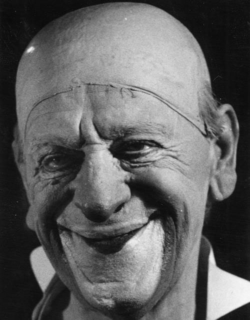 Portrait du clown Grock, photographie de Fritz Eschen, 1950 © SLUB-Deutsche Fotothek