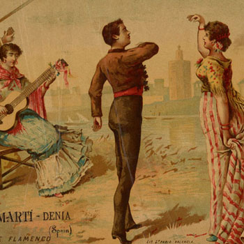Baile flamenco © NY Public Library, digital collections
