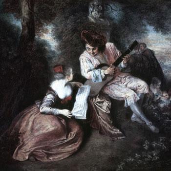 La Gamme d'amour par Watteau © Bildarchiv Foto Marburg