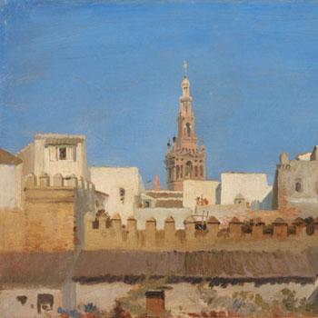 La Giralda Séville par Adrien Dauzats © Met Museum