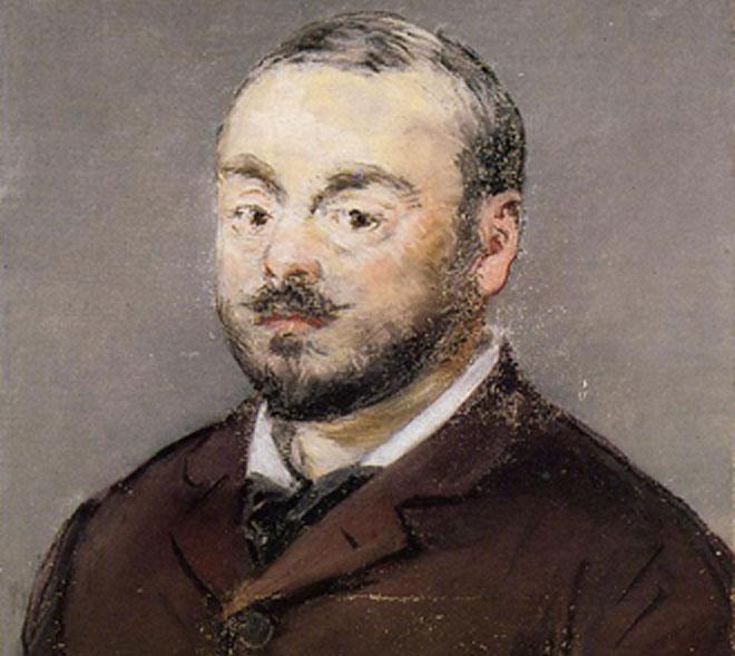 Emmanuel Chabrier par Édouard Manet (détail) ©Ordrupgaard Art Museum