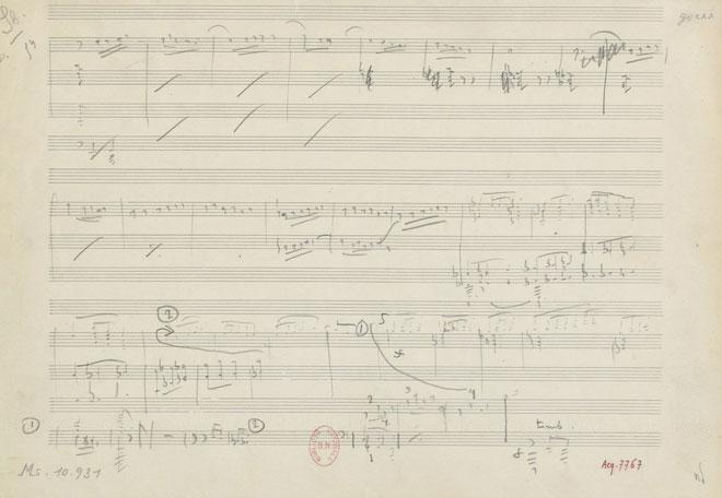 Partition de Iberia, manuscrit autographe de Claude Debussy © Gallica - BnF