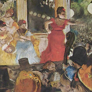 Edgar Degas, les cafe-concert des Ambassadeurs © Musée des Beaux-Arts, Lyon