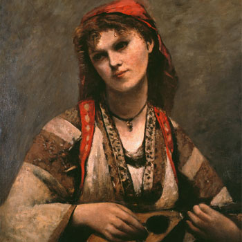 Jean-Baptiste Camille Corot, Gitane à la mandoline de © Museu de Arte de São Paulo