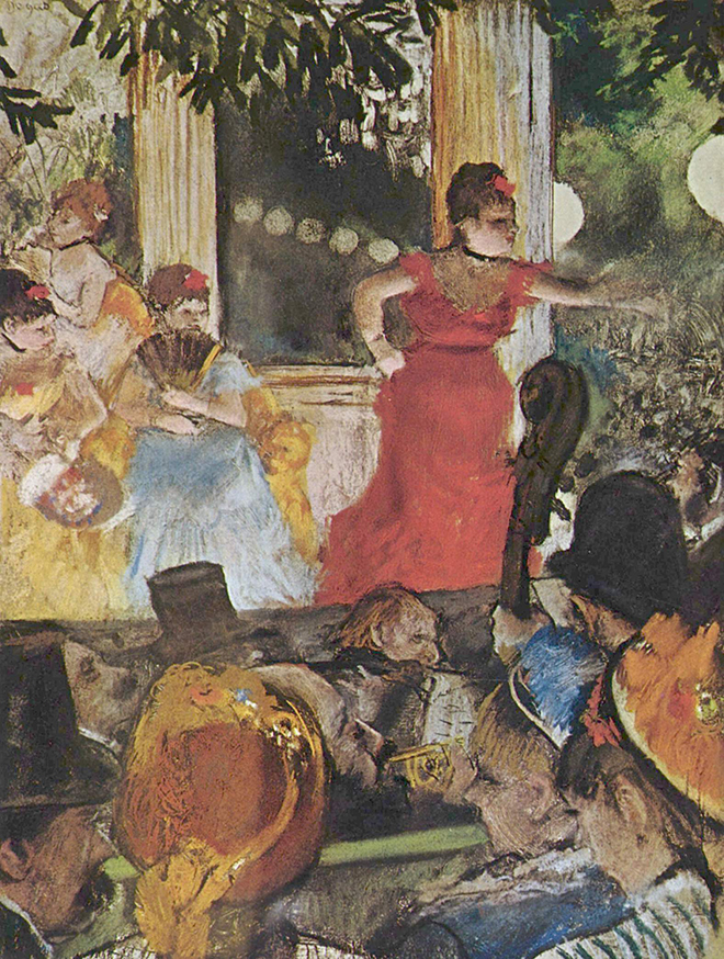 Le café-concert des Ambassadeurs, peinture d'Edgar Degas, 1876-1877. Musée des beaux-arts de Lyon