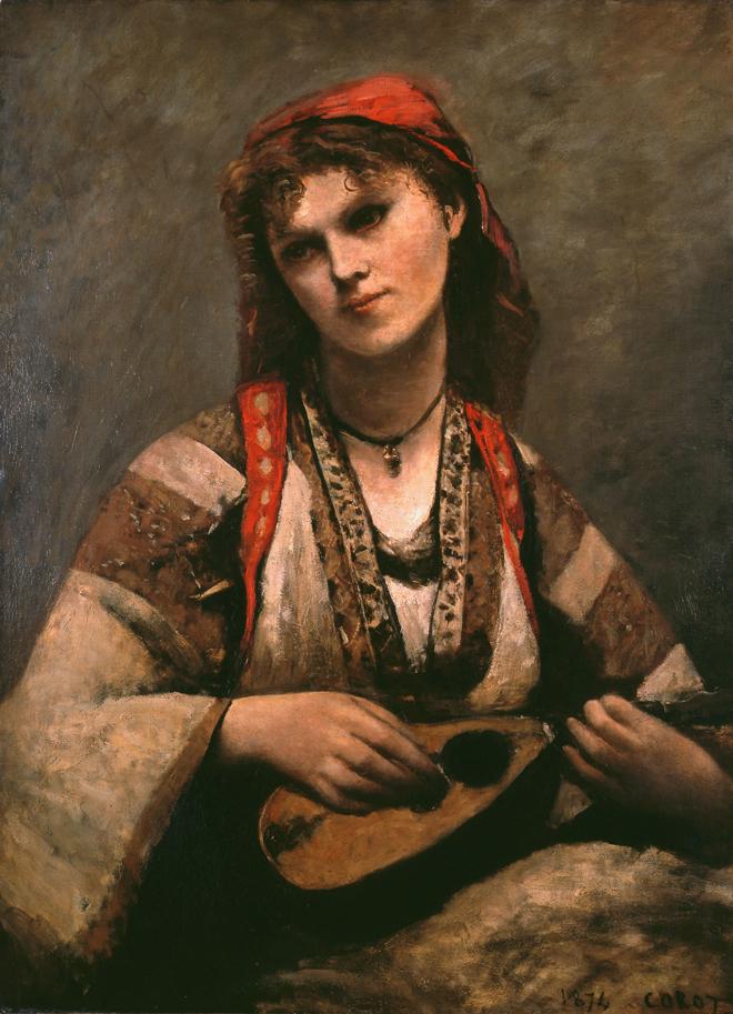 Jean-Baptiste Camille Corot, Gitane à la mandoline de © Museu de Arte de São Paulo
