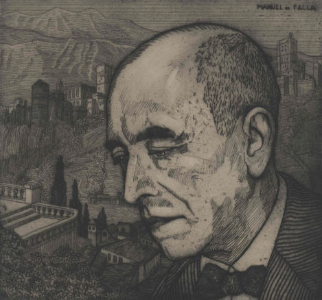 Portrait de Manuel de Falla © Österreichische Nationalbibliothek