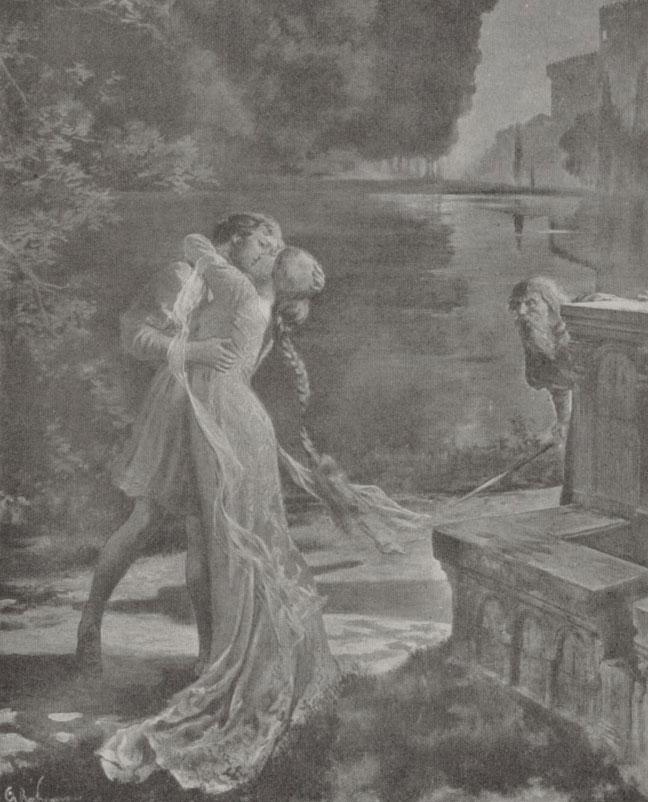 Pelléas et Mélisande, estampe d'après l'affiche de Rochegrosse © Gallica-BnF