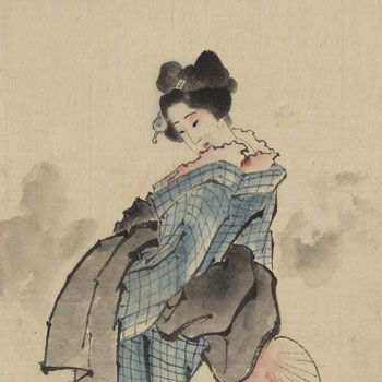 Femme japonaise par Hokusai Katsushika © Library of Congress