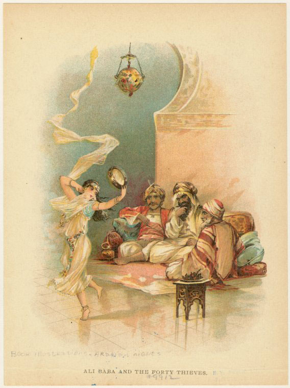 Ali Baba et les quarante voleurs, illustration de Frances Brundage © NY Public Library, digital collections