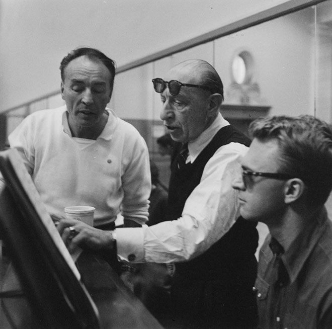 George Balanchine et Igor Stravinski, photographie de Martha Swope © NY Public Library, digital collections