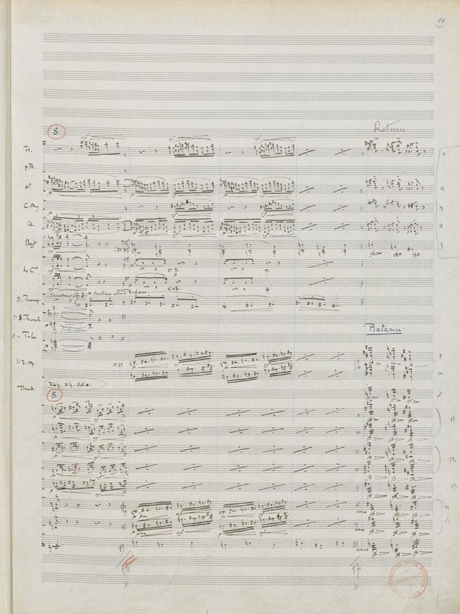 La Mer, manuscrit autographe de Claude Debussy © Gallica - BnF