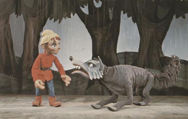 Marionnettes de Pierre et le loup © NY Public Library, digital collections