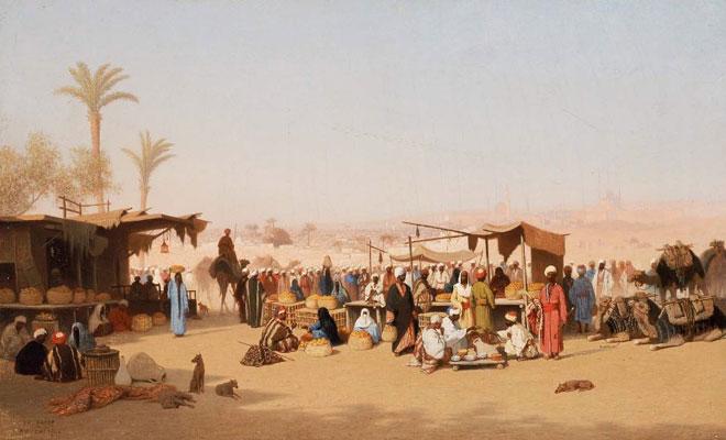 Scène de marché au Caire, de Charles Théodore Frère © Museum of Fine Arts de Boston