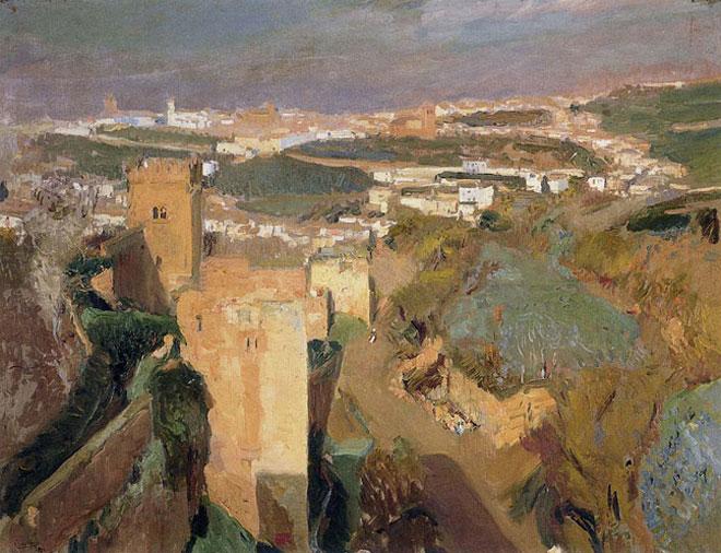 Tour de l'Alhambra, Grenade par Joaquin Sorolla y Bastida © Museo Sorolla, Madrid