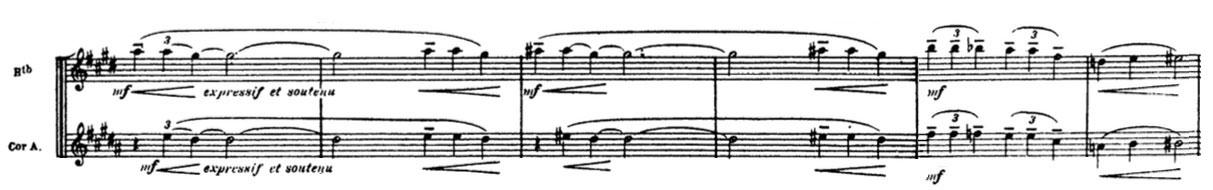 Partition La Mer de Claude Debussy, le thème de vent