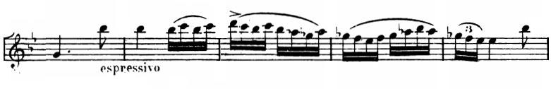 Partition, La Princesse jaune, Andantino, thème 2