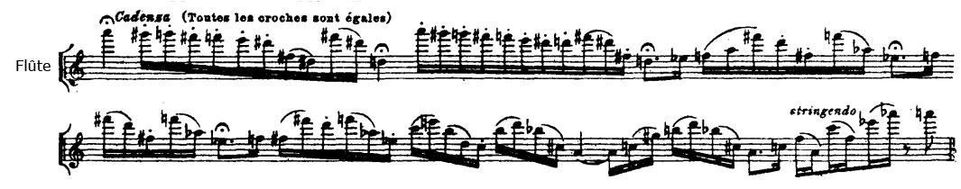Partition Chant du rossignol, cadence du chant du rossignol