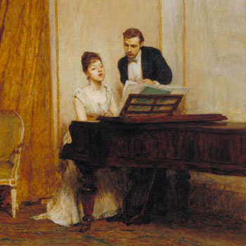 Her Mother's Voice (détail), par Sir William Quiller Orchardson, 1888 © National Gallery of British Art, London