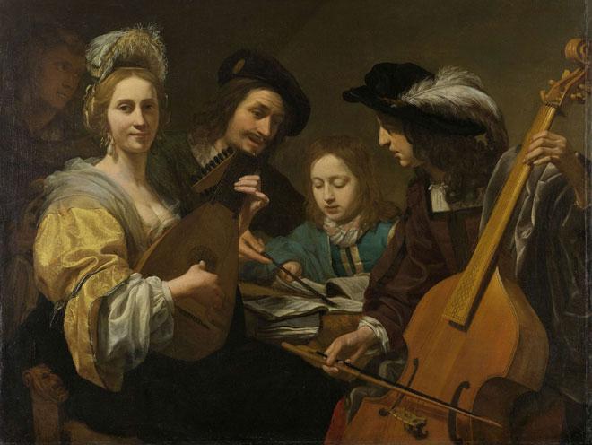 Un groupe de musiciens, par Gerard van Kuijl, 1651 © Rijksmuseum, Amsterdam