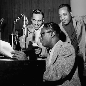 Oscar Moore, Nat King Cole et Wesley Price, 1946 © William Gottlieb - Library of Congress